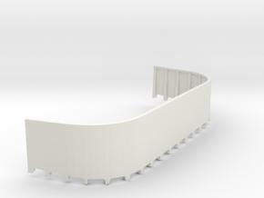 1/48 USN Fletcher 20mm gun tub port  in White Natural Versatile Plastic