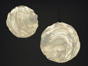 Flo Hanging Light Shade Small in White Natural Versatile Plastic