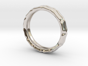 Worlds Apart in Rhodium Plated Brass