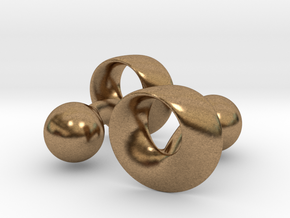 Möbius Cufflinks in Natural Brass