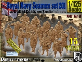 1/125 RN Seamen Duffel Coat Set201 in Smooth Fine Detail Plastic