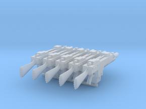 G3A1 Lasgun (Plain) x5 in Smooth Fine Detail Plastic
