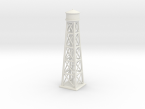 1/1200 Brooklyn Water Tower in White Natural Versatile Plastic