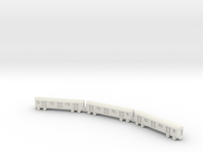 1/1200 NYC Subway in White Natural Versatile Plastic