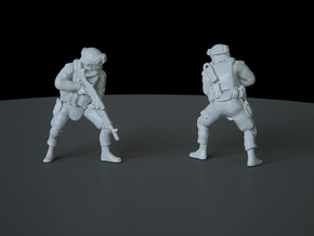 6 HO Modern Soldier (no base) in Smooth Fine Detail Plastic