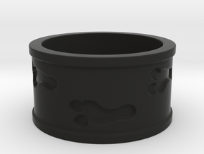 Mutant Footprints Ring (Plastic) in Black Natural Versatile Plastic: 5 / 49