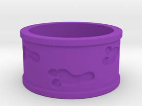 Mutant Footprints Team Colors Ring (Plastic) in Purple Processed Versatile Plastic: 5 / 49