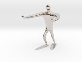 Blind walk statue in Rhodium Plated Brass: 6mm