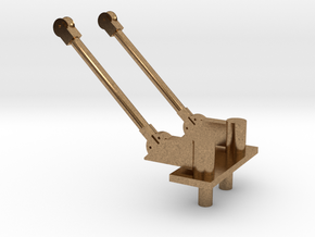 PB&SSR Double Pole Pantograph in Natural Brass