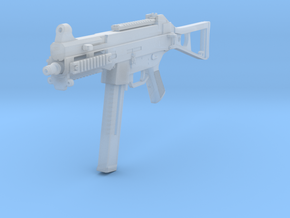 1/10th UMP45gun in Smooth Fine Detail Plastic
