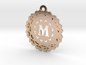 Magic Letter M Pendant in 14k Rose Gold Plated Brass