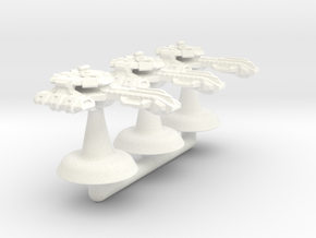 Icarus Class Battlecruiser - 1:20000 in White Processed Versatile Plastic