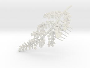Maidenhair Comb- Nylon- Mirrored Version in White Natural Versatile Plastic