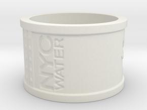 Handprint Pipe Ring (Plastic) in White Natural Versatile Plastic: 5 / 49