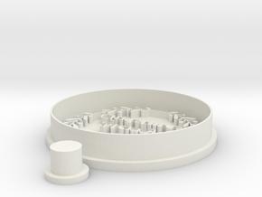 wreat-cristmas-cookiecutter in White Natural Versatile Plastic