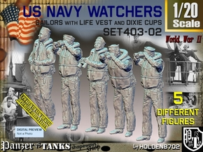 1/20 USN Watchers Set403-02 in White Natural Versatile Plastic