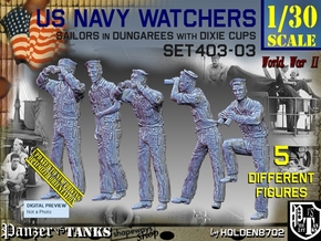 1/30 USN Watchers Set403-03 in White Natural Versatile Plastic
