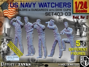 1/24 USN Watchers Set403-03 in White Natural Versatile Plastic