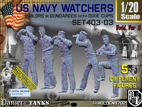 1/20 USN Watchers Set403-03 in White Natural Versatile Plastic