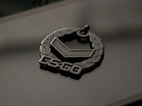 CS:GO Silver 1 Pendant in Matte Black Steel