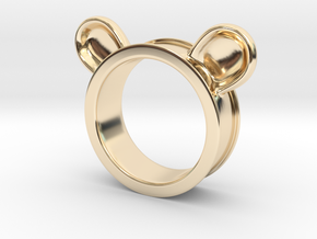 Bear ears ring size6 in 14K Yellow Gold
