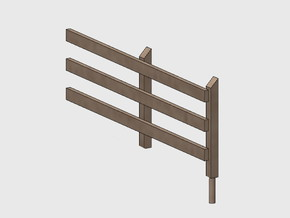 Wood Rail Fence - 2R (2 ea.) in White Natural Versatile Plastic: 1:87 - HO
