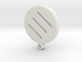 Fantasy Monk Icon Medallion in White Natural Versatile Plastic