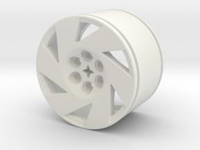 CC6 WHEEL (RIGHT) in White Natural Versatile Plastic