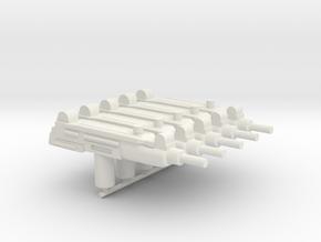 5x Uzi for Playmobil figures in White Natural Versatile Plastic