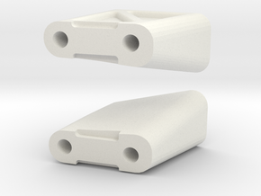 1/10 Touring Wing Mount Tall in White Natural Versatile Plastic
