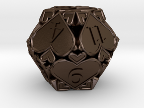 D12 Balanced [Beta] - Hearts in Polished Bronze Steel