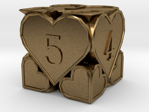 D6 Balanced - Hearts in Natural Bronze