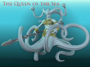 The Queen of the Sea in White Natural Versatile Plastic