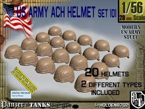 1/56 ACH Helmet Set101 in Smooth Fine Detail Plastic