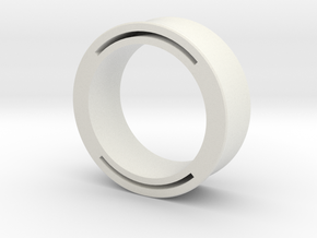 nfc ring 2 -size8 in White Natural Versatile Plastic