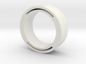 nfc ring 2 -size8 in White Premium Versatile Plastic