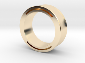 nfc ring 2 -size8 in 14k Gold Plated Brass