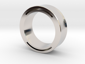 nfc ring 2 -size8 in Rhodium Plated Brass