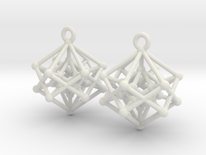 Introspection Earrings in White Natural Versatile Plastic