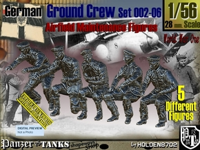 1/56 German Ground Crew SET002-06 in Smooth Fine Detail Plastic