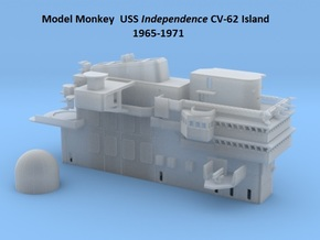 1/144 USS Independence CVA-61 Island 1965-1971 in White Natural Versatile Plastic