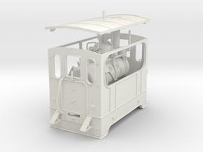 1:45 Silvolde steam tram 0e in White Natural Versatile Plastic