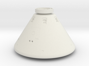 Orion Space Capsule in White Natural Versatile Plastic