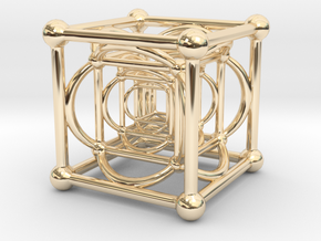 Nested Cubes in 14K Yellow Gold