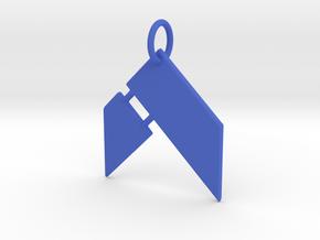 Hammer Fitness Keychain in Blue Processed Versatile Plastic