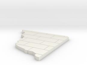 Warhammer 40K Ruins - Optional Upper Floor - Paved in White Natural Versatile Plastic