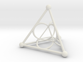 Nested Tetrahedron in White Natural Versatile Plastic