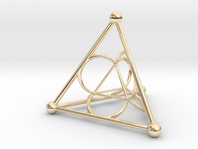 Nested Tetrahedron in 14K Yellow Gold
