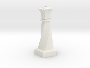 Geometric Chess Set Queen in White Premium Versatile Plastic