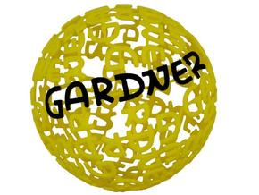 Gardner Ball in White Natural Versatile Plastic
